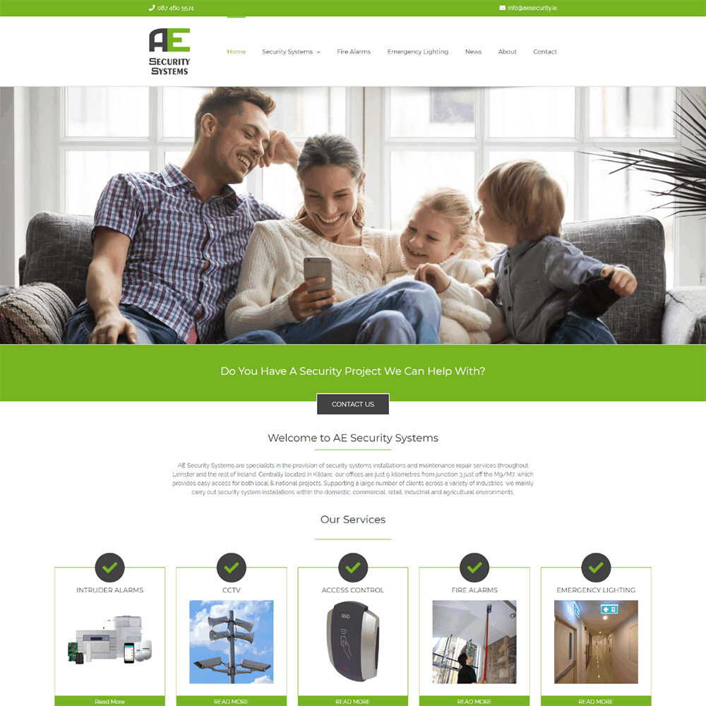 AE Security Systems - New Website Launched
