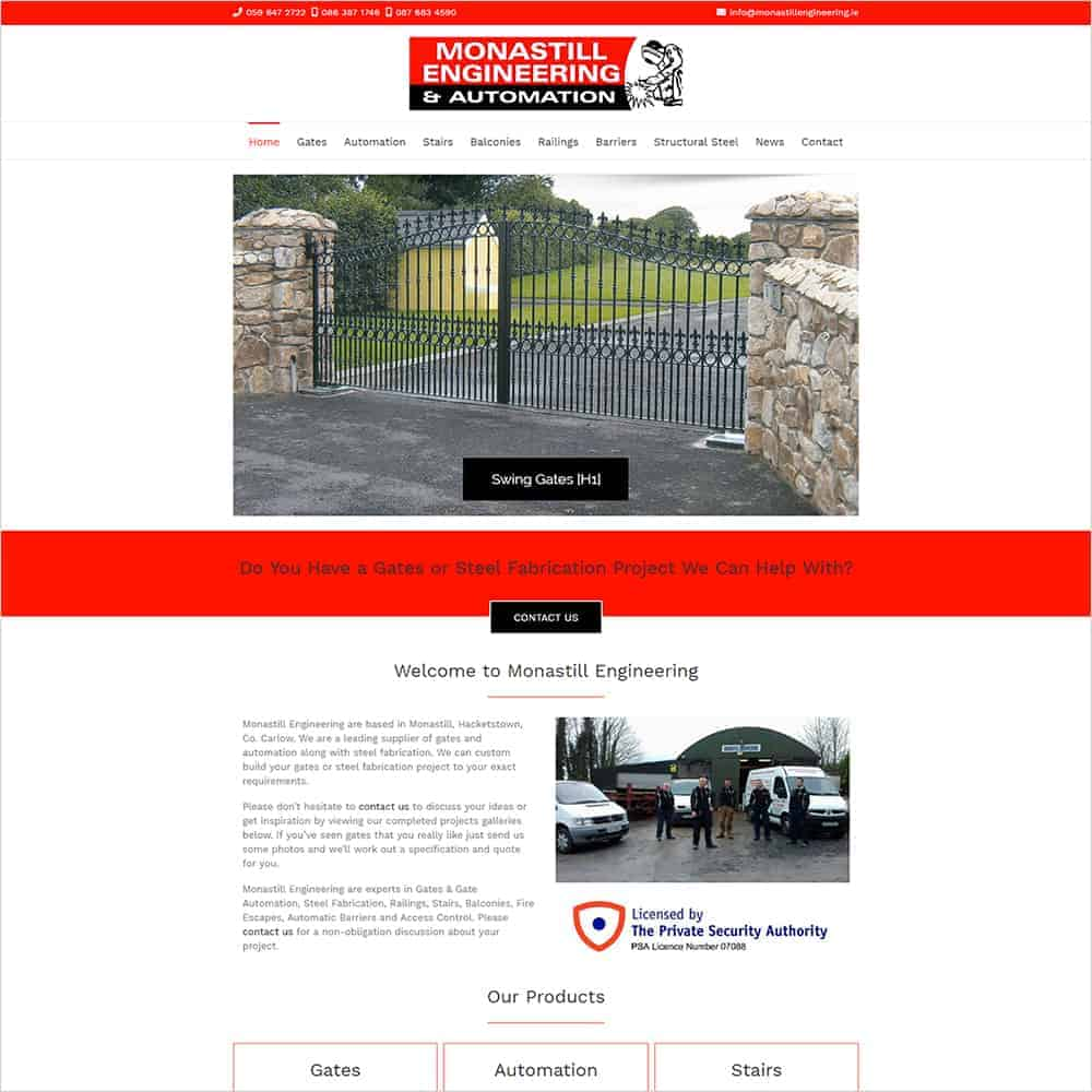 Monastill Engineering - New Website Launched