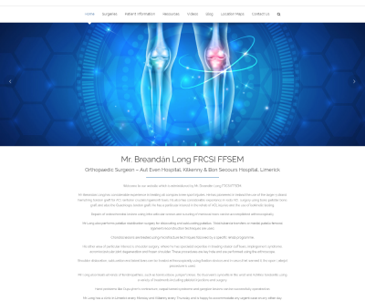 Mr. Breandán Long FRCSI FFSEM - New Website Launched