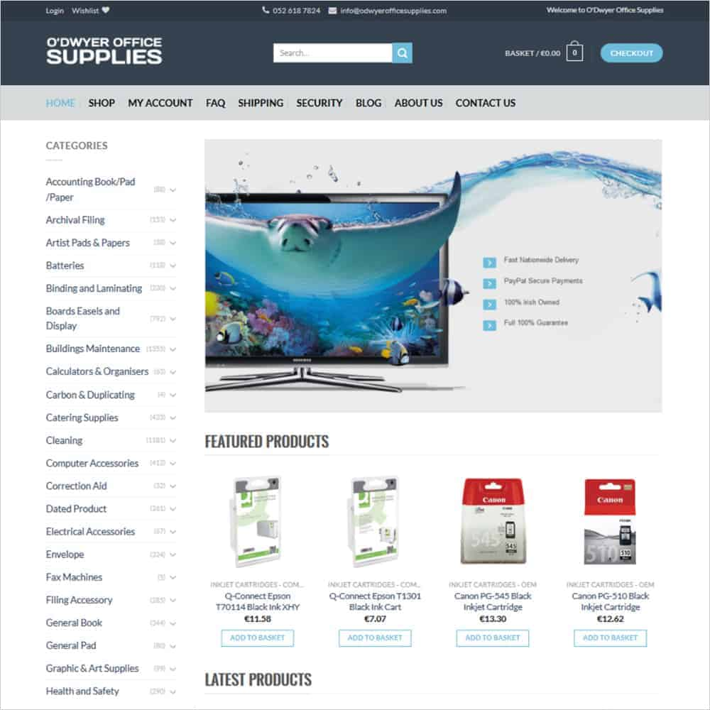 O'Dwyer Office Supplies - New Website Launched