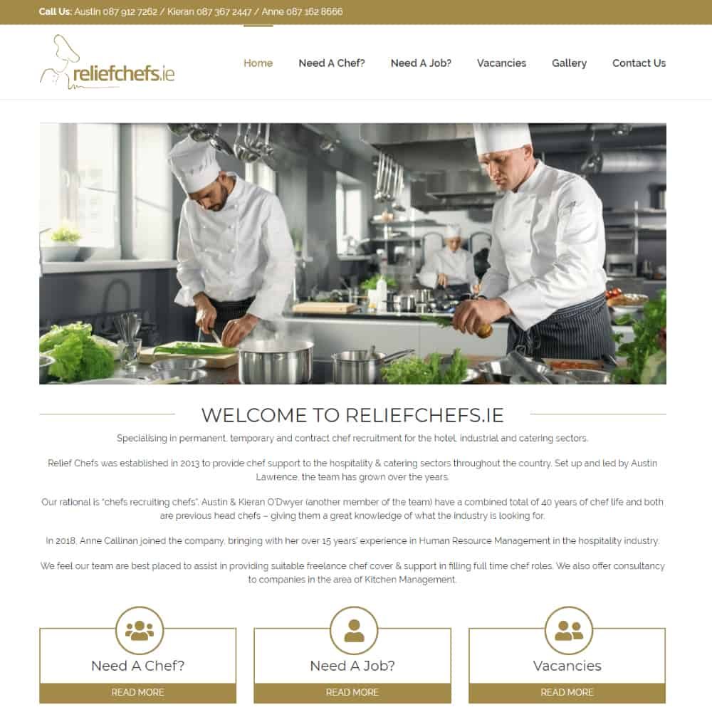 Relief Chefs - New Website Launched